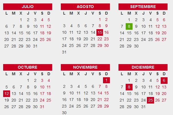 Calendario Julio Y Agosto 2020.Calendario Laboral Extremadura 2020 Eventogenda