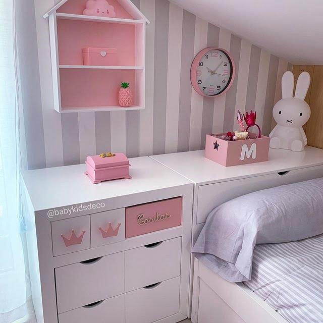 habitación rosa para niñas