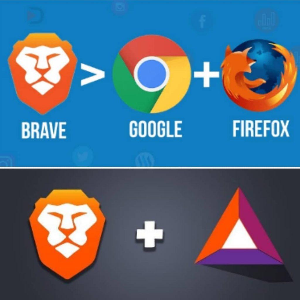 Brave vs Google Chrome vs firefox